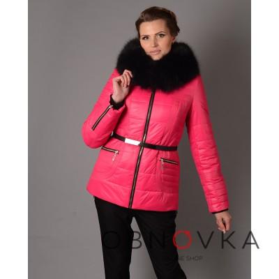 Зимова жіноча куртка Mangust 3017 малинова