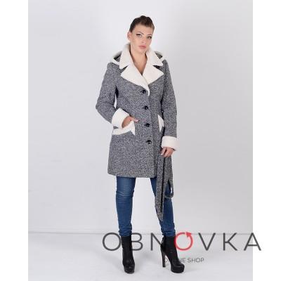 Зимове пальто з твіду Mangust 3074