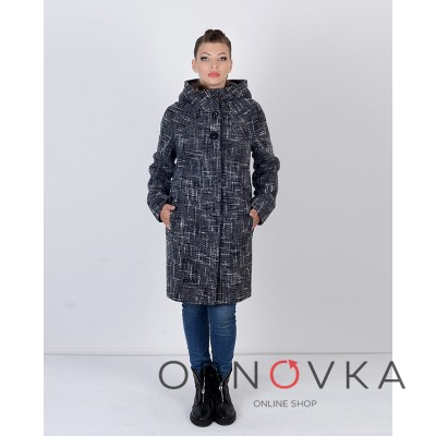 Стильне весняне жіноче пальто з капюшоном Mangust одна тисяча двісті п'ятьдесят вісім
