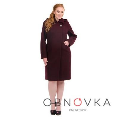 Строгое женское пальто приталенное