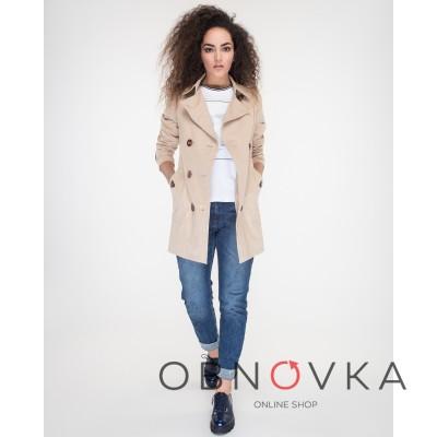 Котоновый плащ-куртка женский