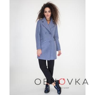 Пальто двубортное женское Украина
