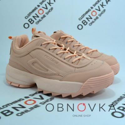 Жіночі кросівки Restime XWO 18106 пудра