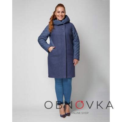 Женское пальто  комбинированное