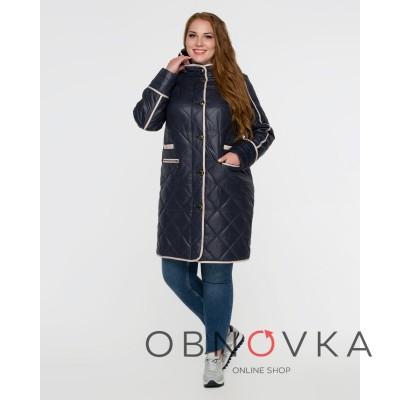 Женская стеганная куртка батал