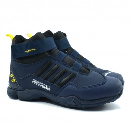 Детские зимние кроссовки с мехом Bona 121 синие