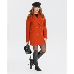 Демисезонное женское пальто Mangust 1335 терракотовое