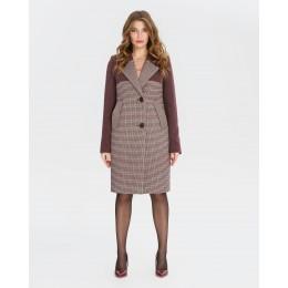 Демисезонное женское пальто Mangust 1327 бордовое
