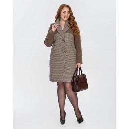 Демисезонное женское пальто Mangust 1327 шоколад