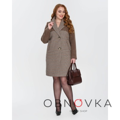 Демісезонне жіноче пальто Mangust 1327 шоколад