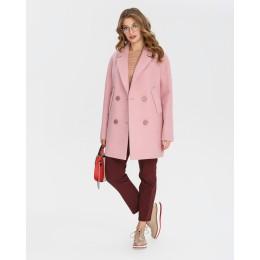 Демисезонное женское пальто Mangust 1335 розовое