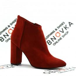 Ботильйони з завужені носком Crisma 1640 червоні