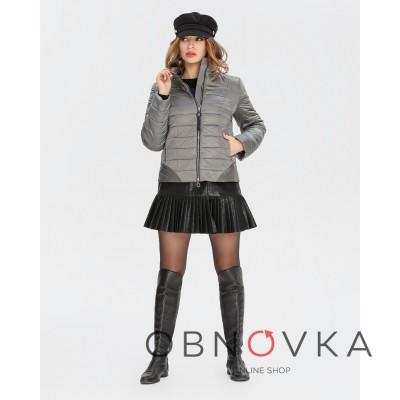 Куртка коротка жіноча Mangust 3097 срібло