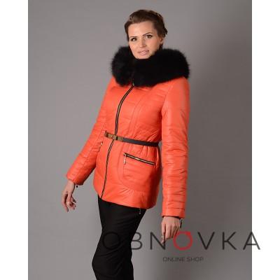 Зимова жіноча куртка Mangust 3017 помаранчева