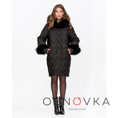 Зимова жіноча куртка Mangust 3101 чорна