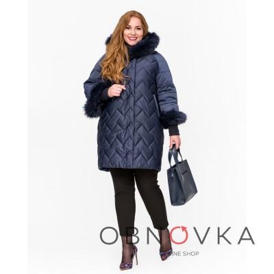 Зимова жіноча куртка Mangust 3101 синя