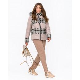 Женская твидовая куртка Mangust 3107 бежевый