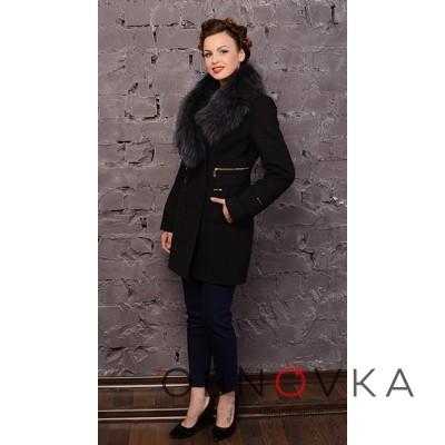 Пальто зимнее женское с воротником