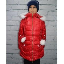 Зимний детский пуховик для девочки