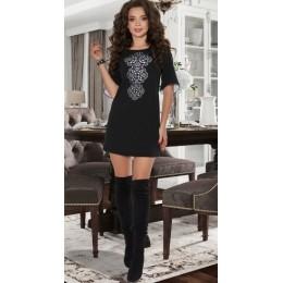 Женское короткое платье Montella 30653 черное
