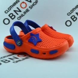 Детские  кроксы Calypso 0152 оранжевые