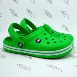 Детские кроксы Calypso 001 зеленые