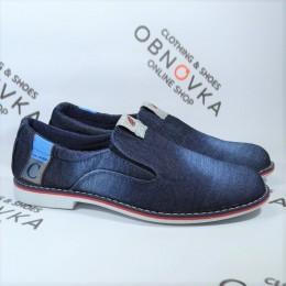 Мужские мокасины джинсовые Calsido 004