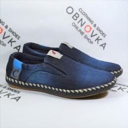 Мужские мокасины джинсовые Calsido 006