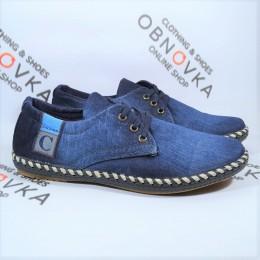 Мужские мокасины джинсовые Calsido 011