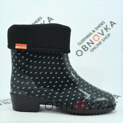 Жіночі гумові чоботи короткі Alisa XA3