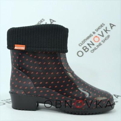Жіночі гумові чоботи короткі Alisa XA3-2