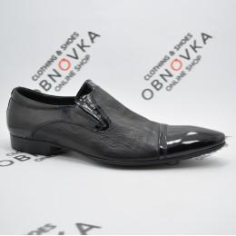 Туфлі чоловічі чорні лакові Tezoro