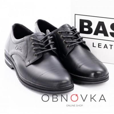 Чоловічі шкіряні туфлі Bastion 011