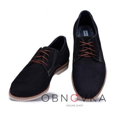 Замшеві класичні туфлі Bastion 161 чорні
