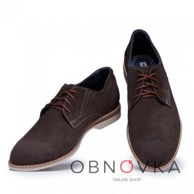 Замшевые туфли на шнурках