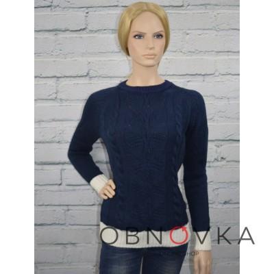 Женский свитер вязаный
