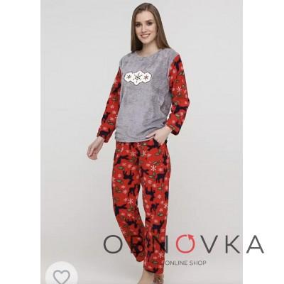Пижама женская махровая производства Турция