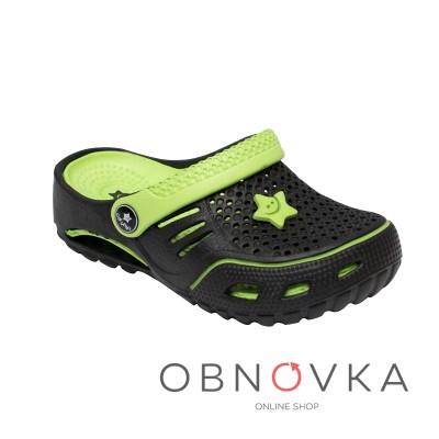 Дитячі крокси-сандалі чорні ТМ Calipso 0154
