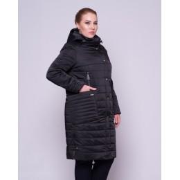 Демисезонная куртка из атласа Mangust 3076