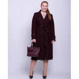 Осеннее теплое женское пальто