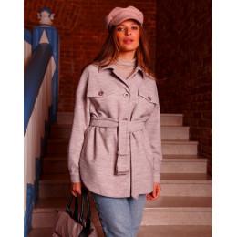 Осеннее стильное пальто-рубашка