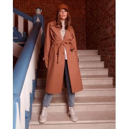 Осеннее стильное женское пальто