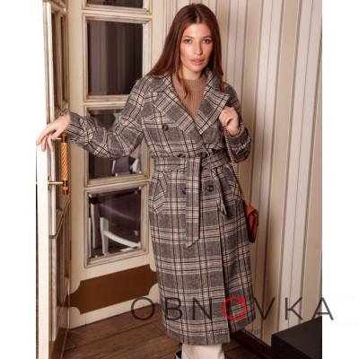 Демисезонное стильное пальто женское