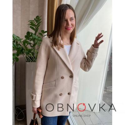 Демисезонное стильное женское пальто-пиджак