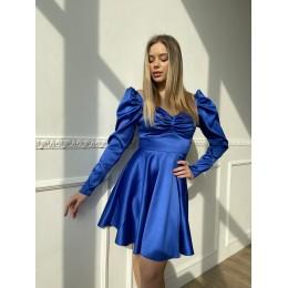 Модное атласное платье