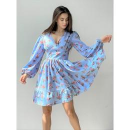 Цветочное платье с пышной юбкой