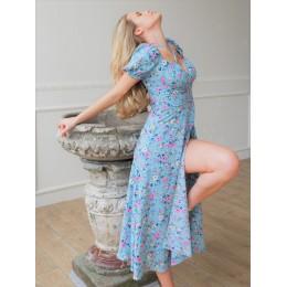 Цветочное платье миди