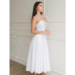 Стильное атласное платье