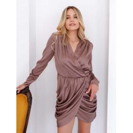Шовкова сукня з ассиметричною юбкою