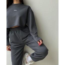 Спортивный костюм оверсайз с брюками карго